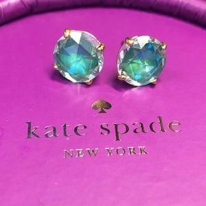 Kate Spade Blue Diamond Studs - barely worn
